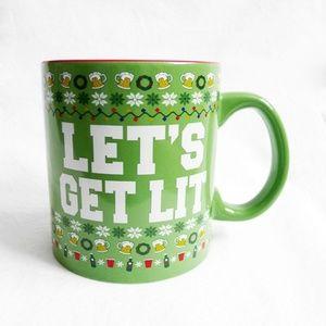 NEW LETS GET LIT Holiday Large 20oz Beer Mug/Cup